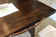 Costco Table folding Torrey Pine stained